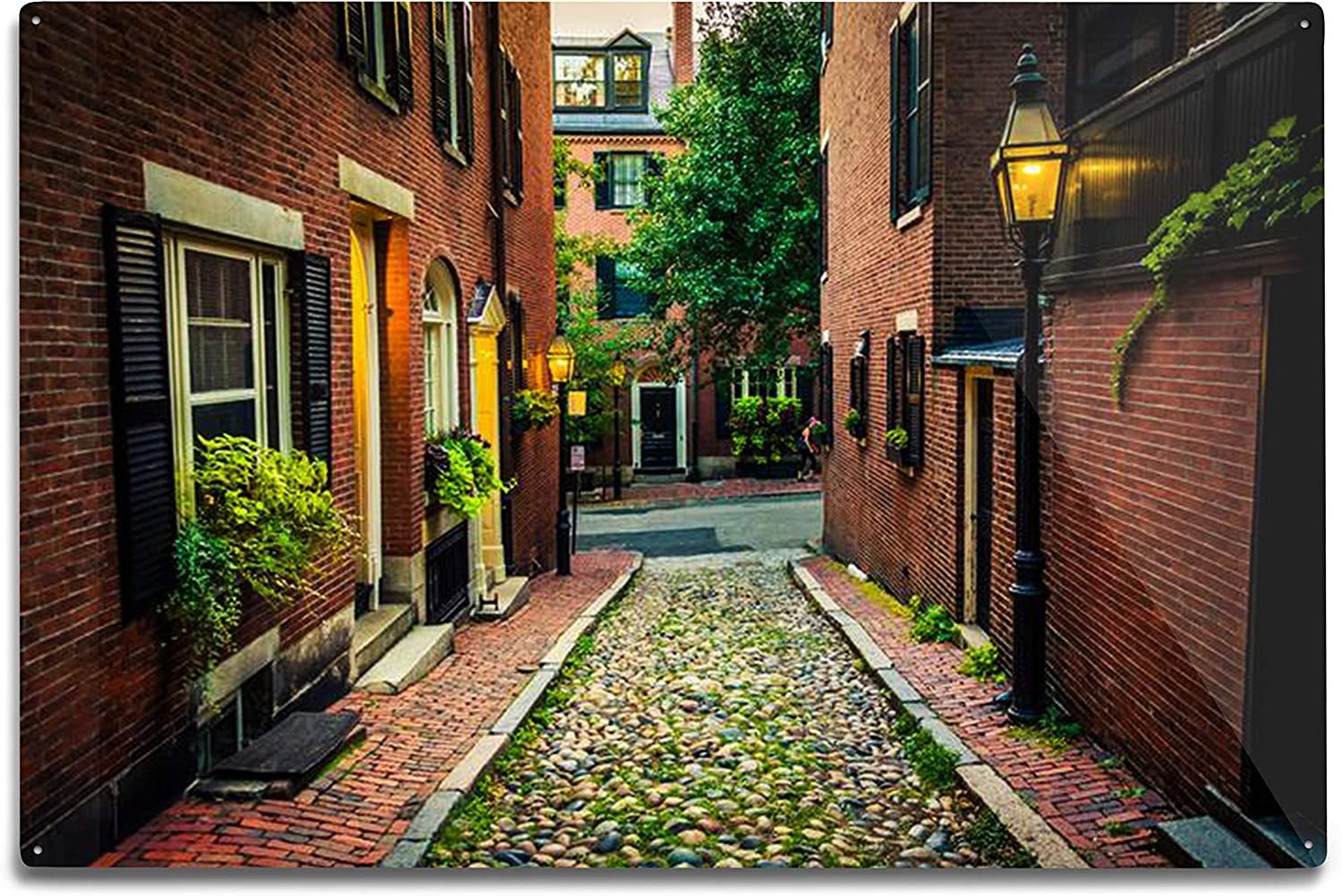 Amazon.com: Lantern Press Boston, Massachusetts - Acorn Street in ...