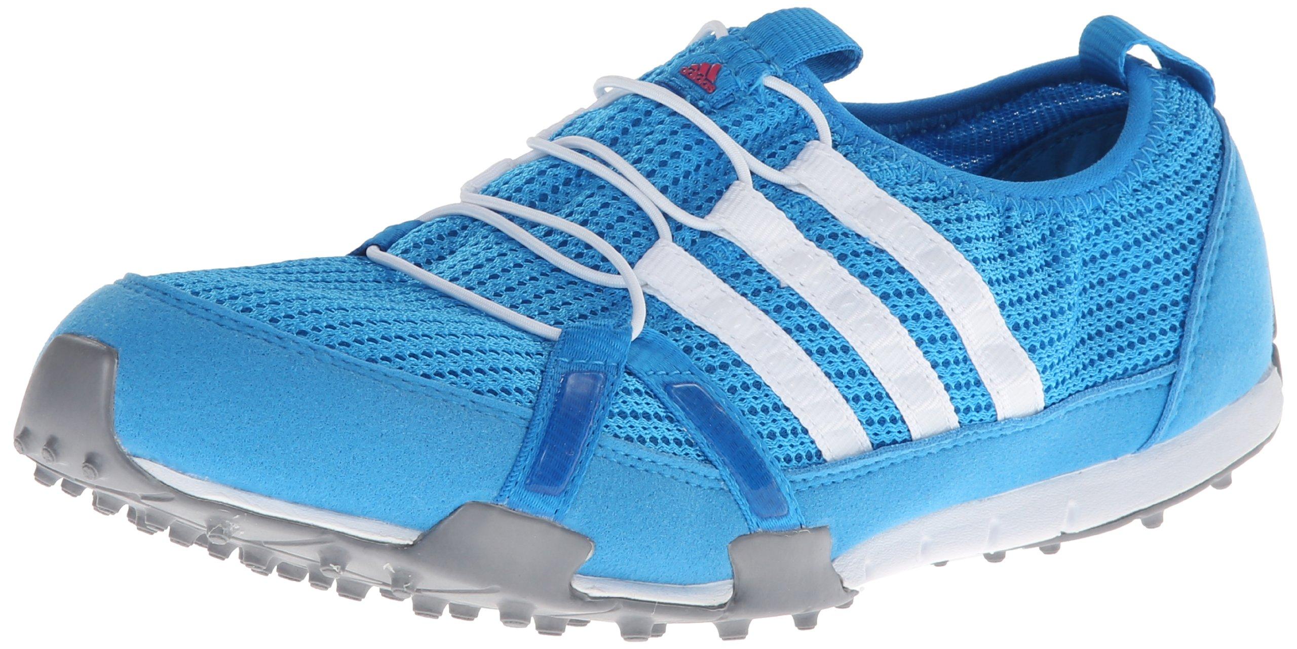 adidas Women's Climacool Ballerina Golf Shoe,Solar Blue/White/Metallic Silver,8 M US