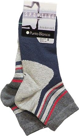 Punto Blanco - Calcetines algodón deportivos - rayas - GRIS, U ...