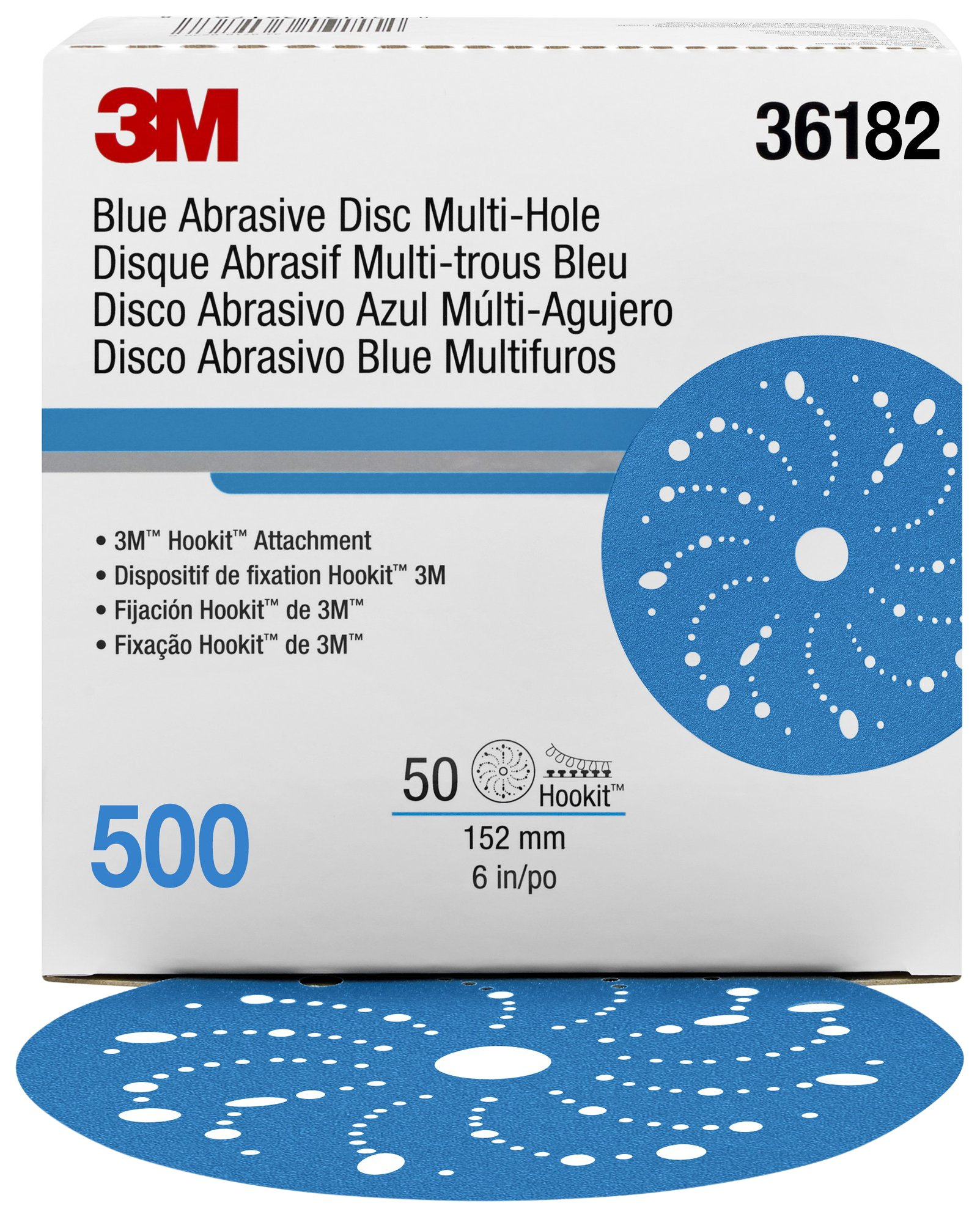 Hookit 36182 Blue Abrasive Disc