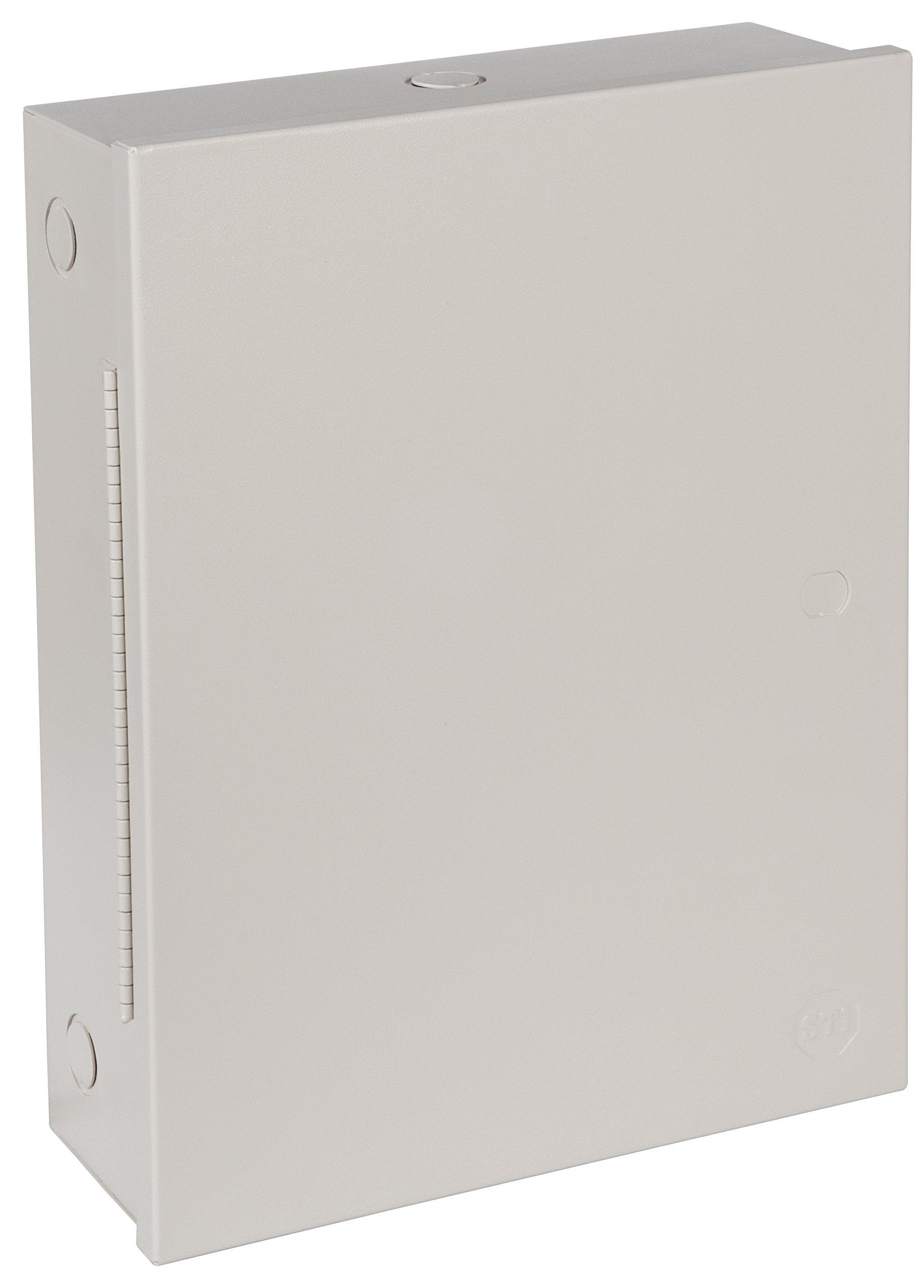 "Safety Technology International, Inc. STI-EM111504 Metal Protective Cabinet, UL/cUL Type1, Powder Coated, Piano Hinge, 11"" x 15"" x 4''"