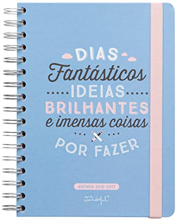 Mr. Wonderful - Agenda 2016-2017, diseño