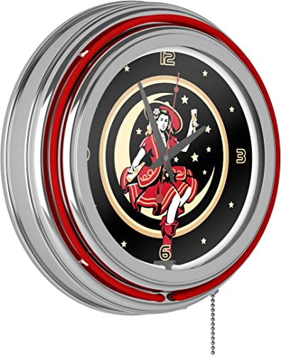 Miller High Life Girl in the Moon Vintage 14 Inch Neon Clock