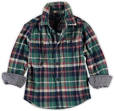 Tommy Hilfiger - Camisa, niños, Color- Verde, Talla- 6M ...