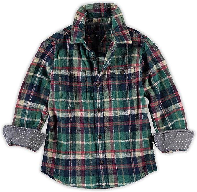 Tommy Hilfiger - Camisa, niños, Color- Verde, Talla- 6M: Amazon.es: Ropa y accesorios