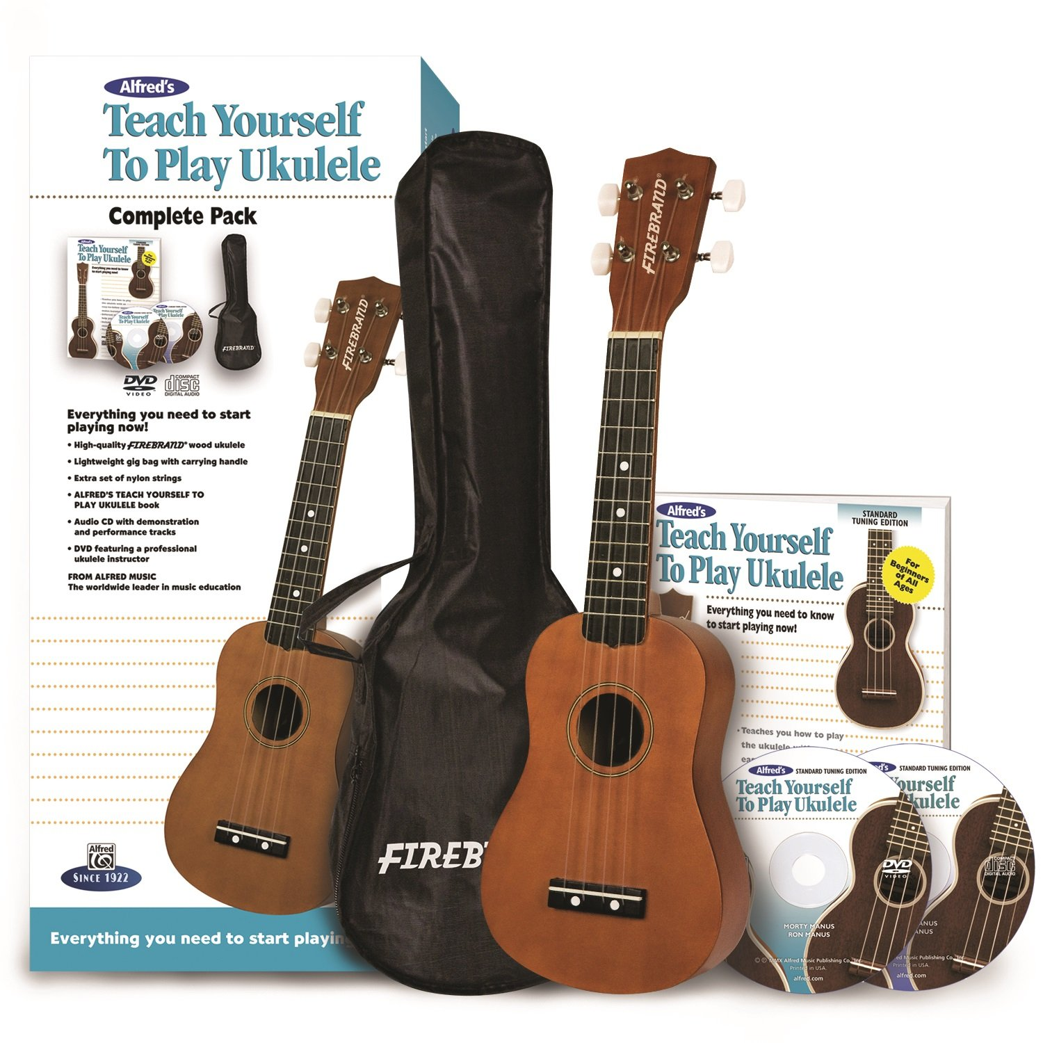 Alfred Music Publishing Teach Yourself to Play Ukulele, Complete Starter Pack Morton Manus Ron Manus 00-37379 Musical Instruments - Guitar