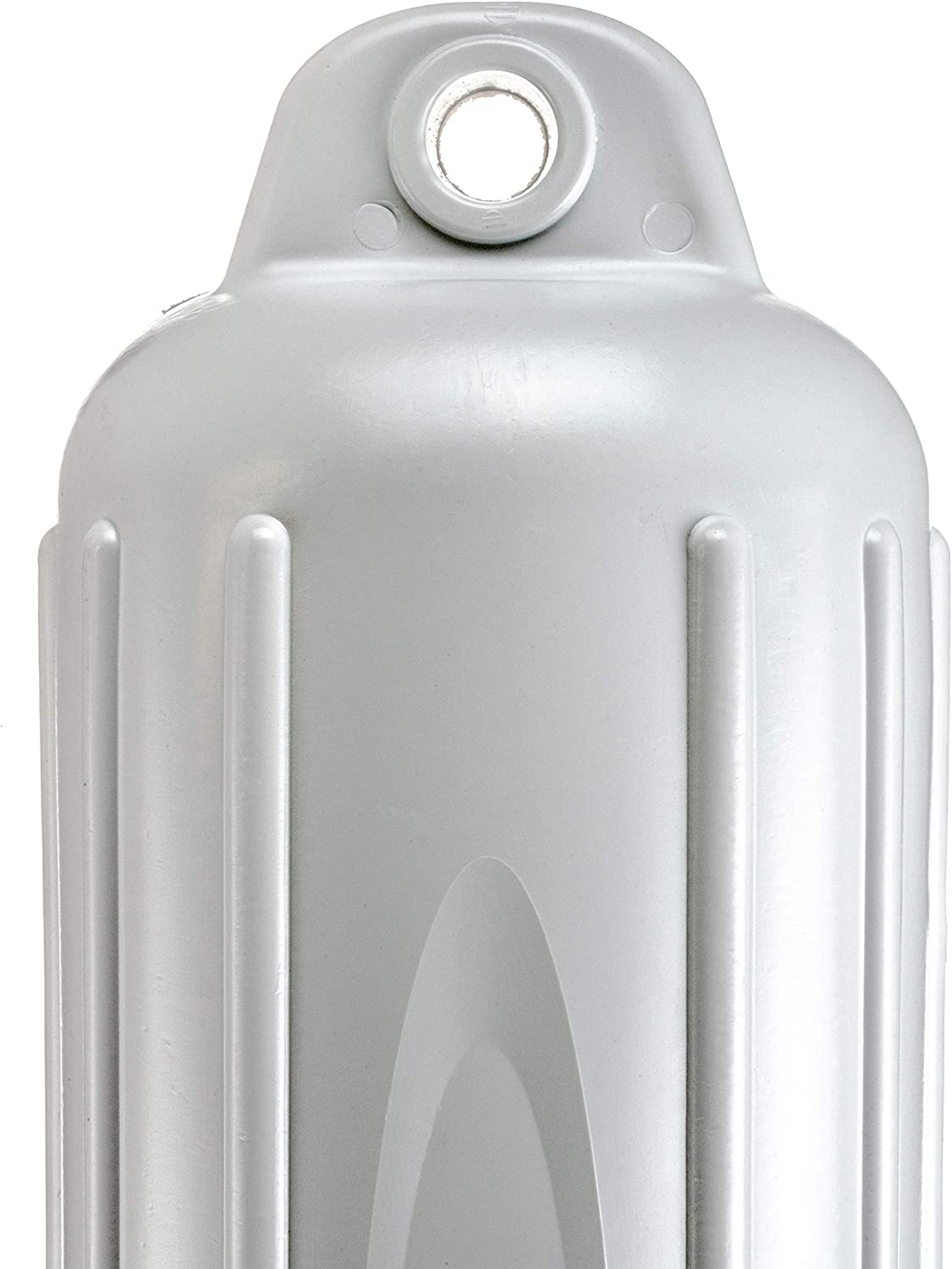 White Finish Attwood 9356D1 Softside Oval Boat Fender with Thick-Wall Reinforced Eye Ends