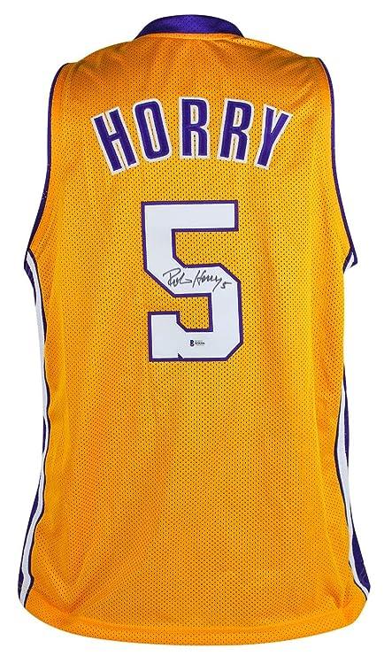 5d0ebbd5243 Signed Robert Horry Jersey - Yellow BAS - Beckett Authentication - Autographed  NBA Jerseys