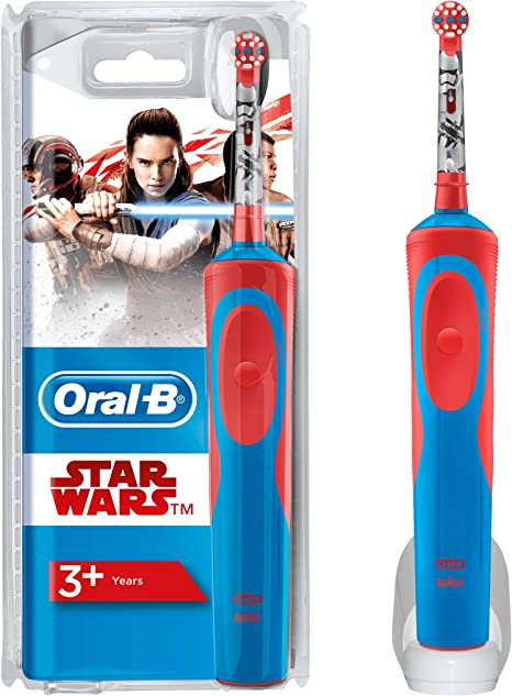 4 x Oral-B Stages Kids Star Wars teste di ricambio per Bambini Spazzolino Elettrico