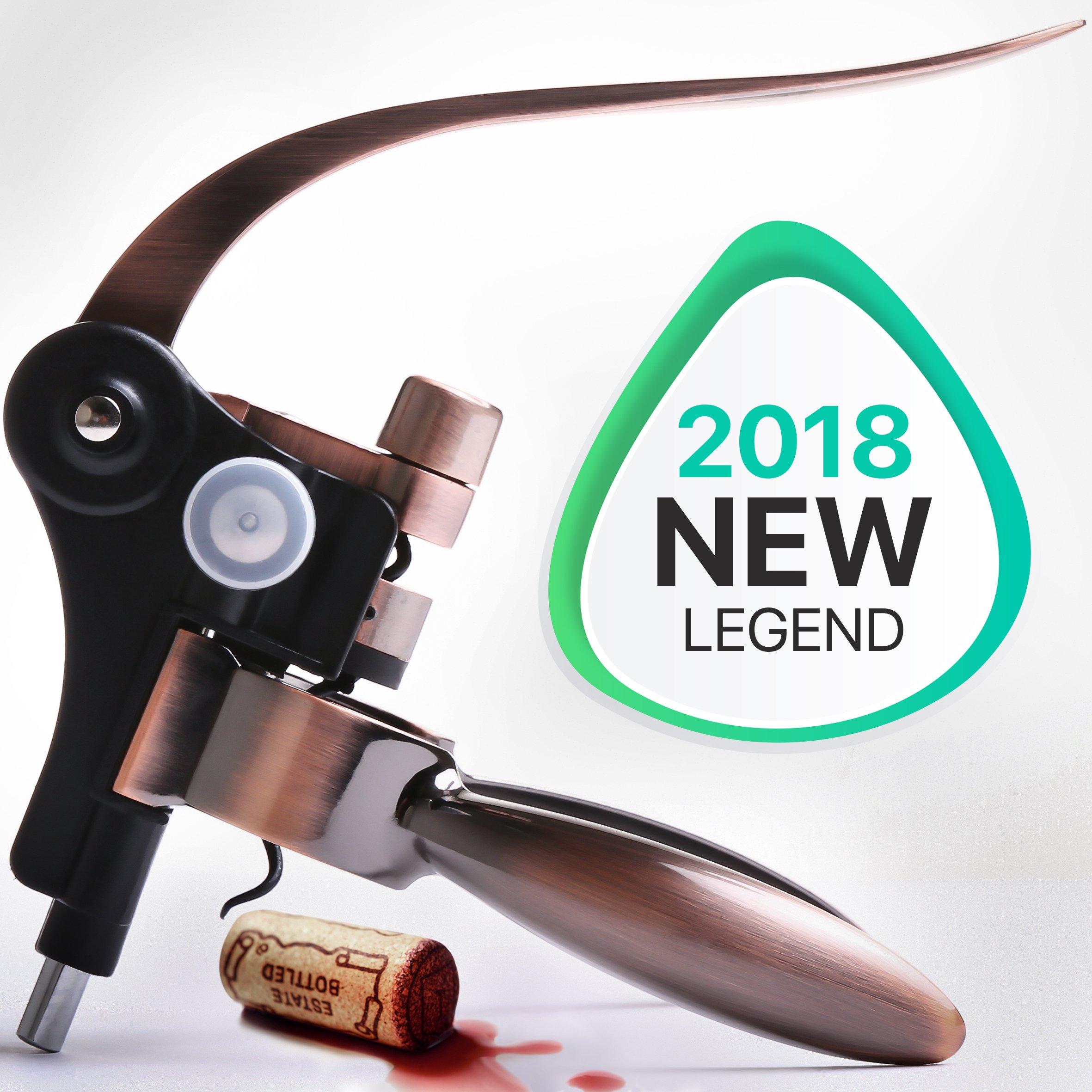 Wine Opener - Wine Accessories - Rabitt Wine Bottle Opener - Wine Corkscrew - The Best Wine Tool Kit For Women - Large Manual Wine Set For Men - Lever Cork Opener