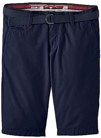 Mens Solid Belt Bermuda/506 Shorts Tom Tailor H0Vad2UWb