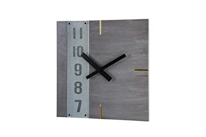 AmigasHome Creative Design Square W/Numbers Lining - Gray Wood Grain
