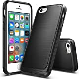 iPhone SE / 5S / 5 Case, Ringke [ONYX] Vital Lift Technology [Black] Ultimate Ergonomic Design, Rugged Flexible Durability, Versatile Port-Caps, Advanced Slim Snug Fit Soft Rubber TPU Defensive Cover