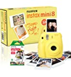 Instax Mini 8 Camera with 10 Shots - Yellow