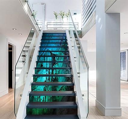 3d Blue Cavs 7 Stair Risers Decoration Photo Mural Vinyl Decal