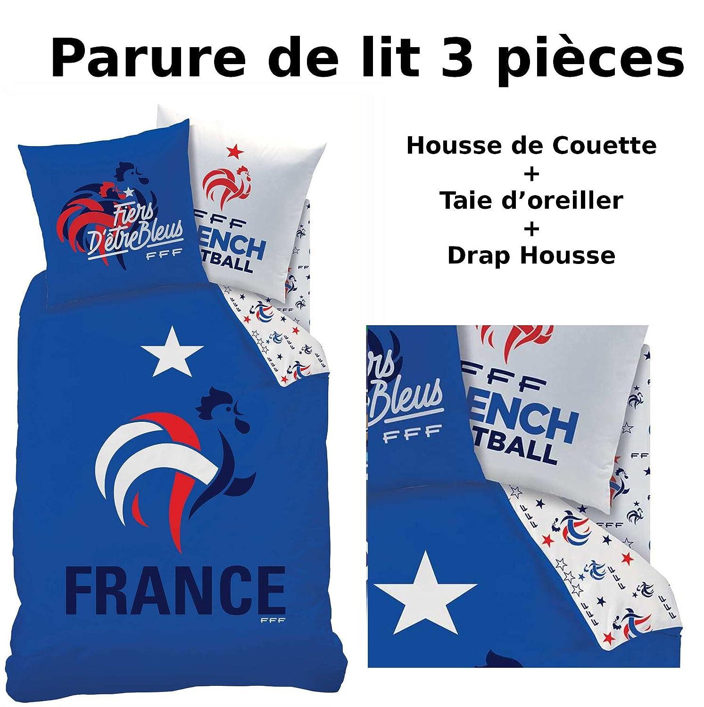 Fff Equipe De France Parure De Lit 3pcs Housse De Couette