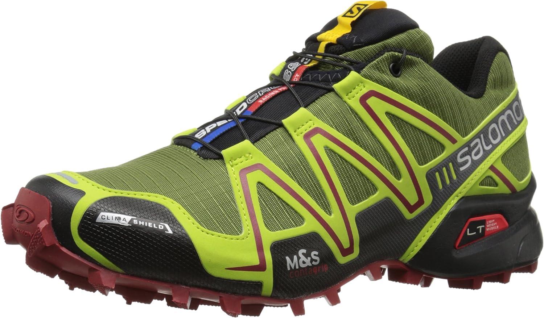 Salomon Speedcross 3 CS Trail Laufschuhe genepi-x/green glow/flea - 40: Amazon.es: Deportes y aire libre