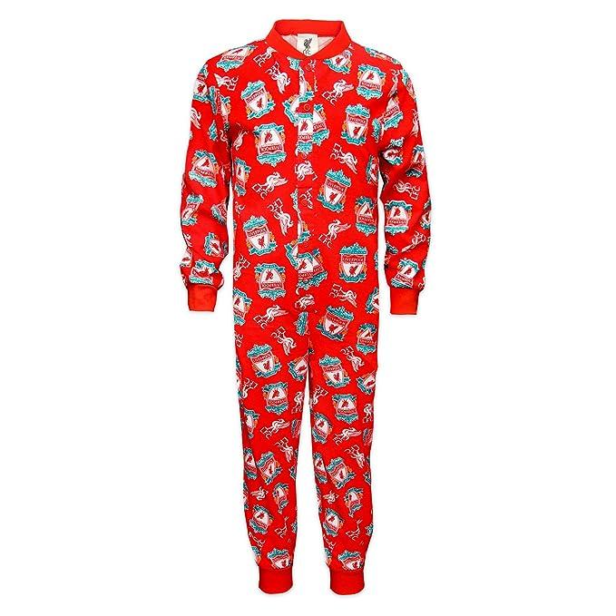 9dd0314dfb Liverpool FC - Pijama de una pieza para niños - Producto oficial  Amazon.es