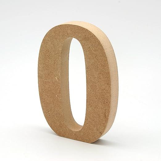 N/úmeros grandes de madera DM de 20cm de alto para decoraci/ón y manualidades N/úmeros de madera