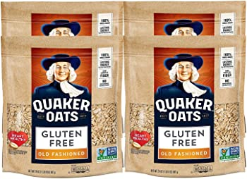 4-Pack Quaker Gluten Free Old Fashioned Rolled Oats 24oz Resealable Bags