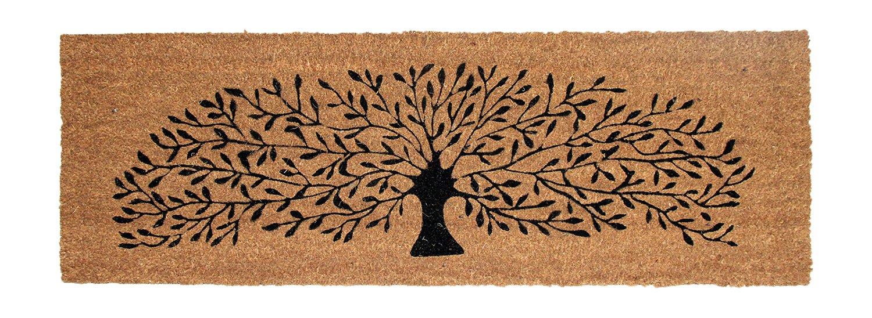 Decorating coir door mats pics : Buy Onlymat Black Tree Coir Doormat, 120 Cm X 40 Cm Online at Low ...