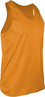 product image for TR-903-CB Men's Athletic Single Ply Solid Color Light Weight Track Singlet (X-Small, Gold)