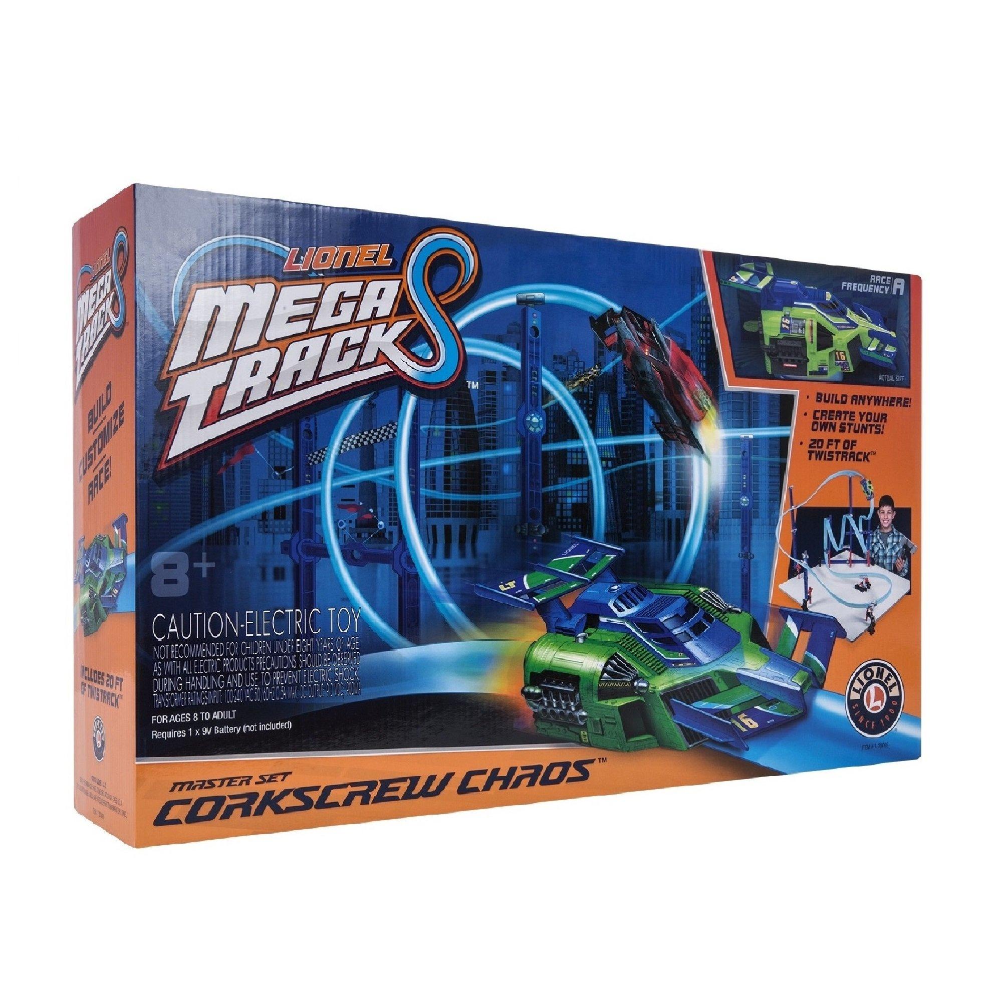 Lionel Mega Tracks - Corkscrew Chaos Green Engine by Lionel
