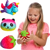 GirlZone Gifts Girls: Set of 3 Slow Rising Squishies, Unique Colors, Stress Reducing, Scented Squishy, Birthday Present Gift Girls Age 4 5 6 7 8 9+