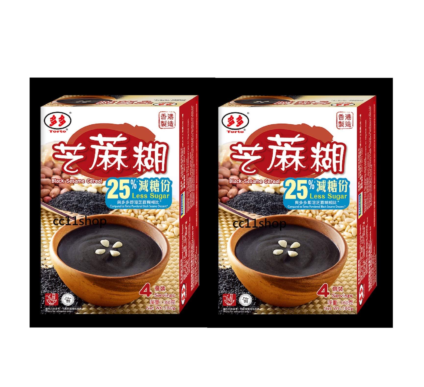 25% Less Sugar Torto Black Sesame Instant Dessert 40g x 8 servings