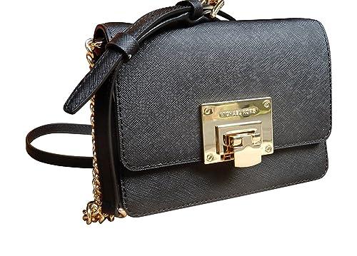 91adf579e8d Michael Kors Tina Small Leather Clutch, Crossbody Shoulder Bag ...