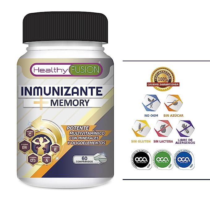 El más Potente y Completo Multivitamínico con Vitaminas C, E, B3, B5, A, B6, B2, B1, B9, B12, D3, Zinc y Hierro - Suplemento vitamínico que evita gripes y ...