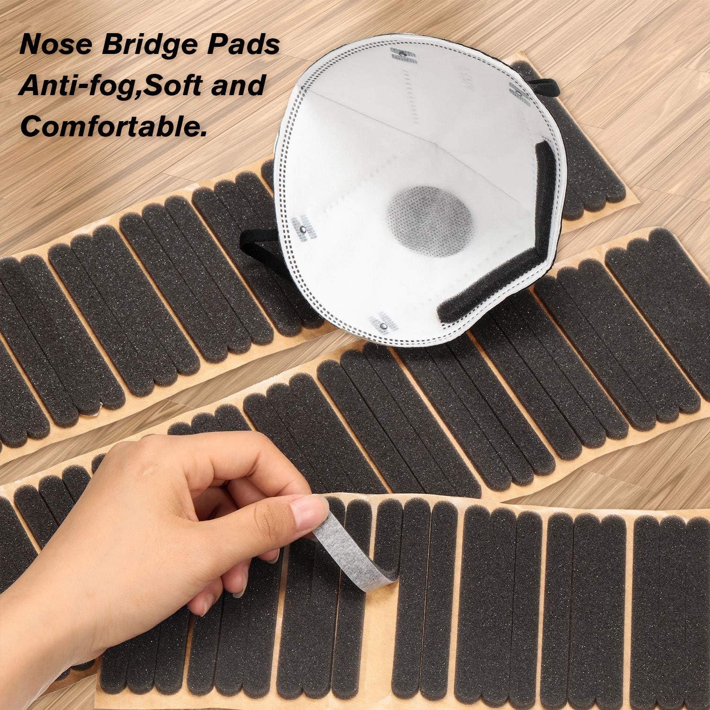 100 Pieces Nose Bridge Strip Aluminum Nose Bridge Wire and 100 ...