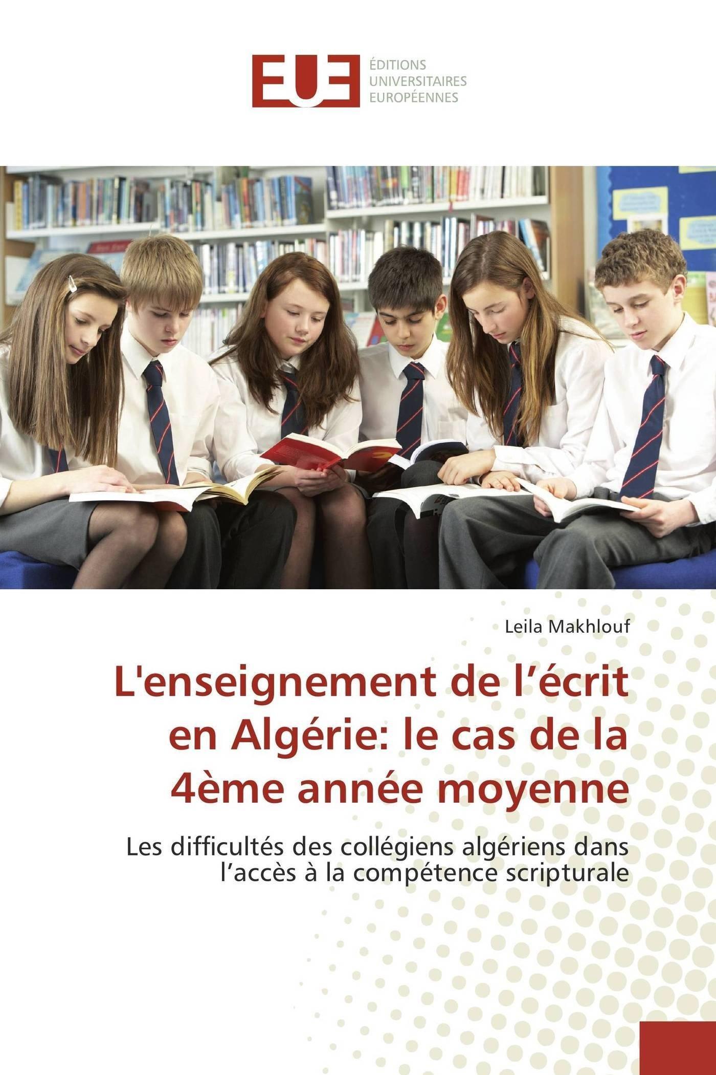 L Enseignement De L Ecrit En Algerie Le Cas De La 4eme