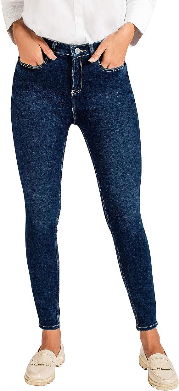 Evva Jeans Mujer Pantalones De Tiro Alto Pantalones De Mezclilla Para Mujer Suavizan Y Reafirman Tus Piernas Indigo Wash Chico Amazon Com Mx Ropa Zapatos Y Accesorios