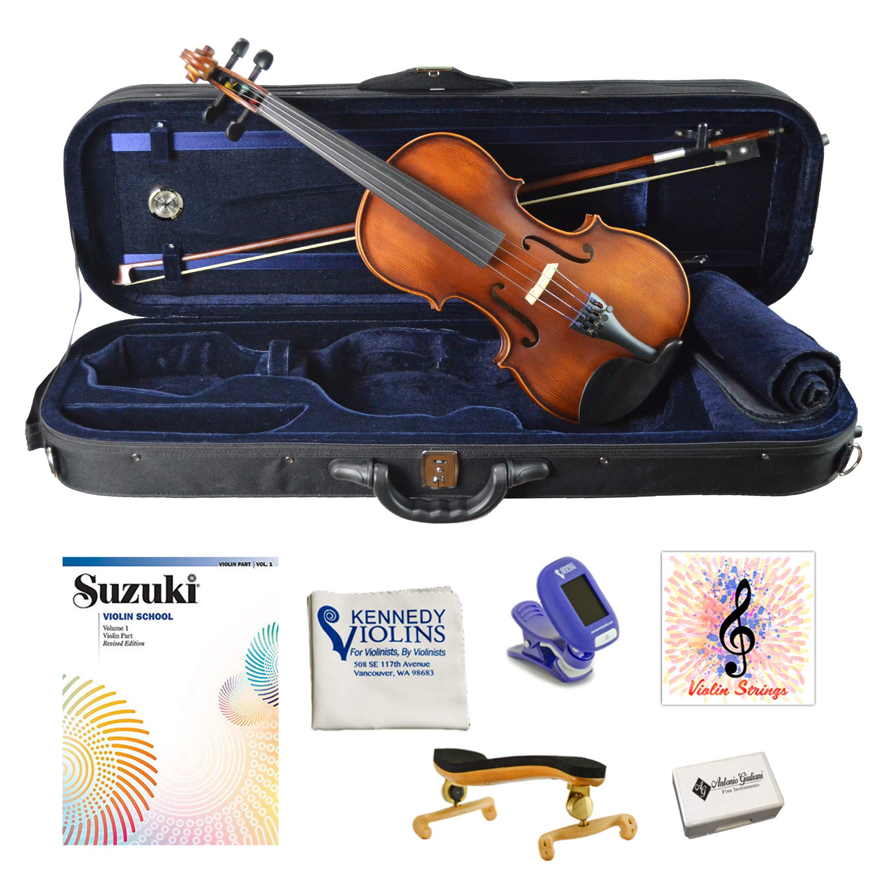 Antonio Giuliani Etude Clearance Violin Outfit 4/4 Full Size AG360 by Kennedy Violins