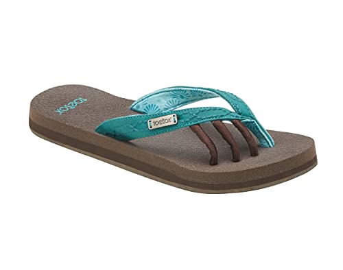 15e8082453a5 Amazon.com  toesox Women s Serena Five Toe Sandals (Aqua) Size  5 ...