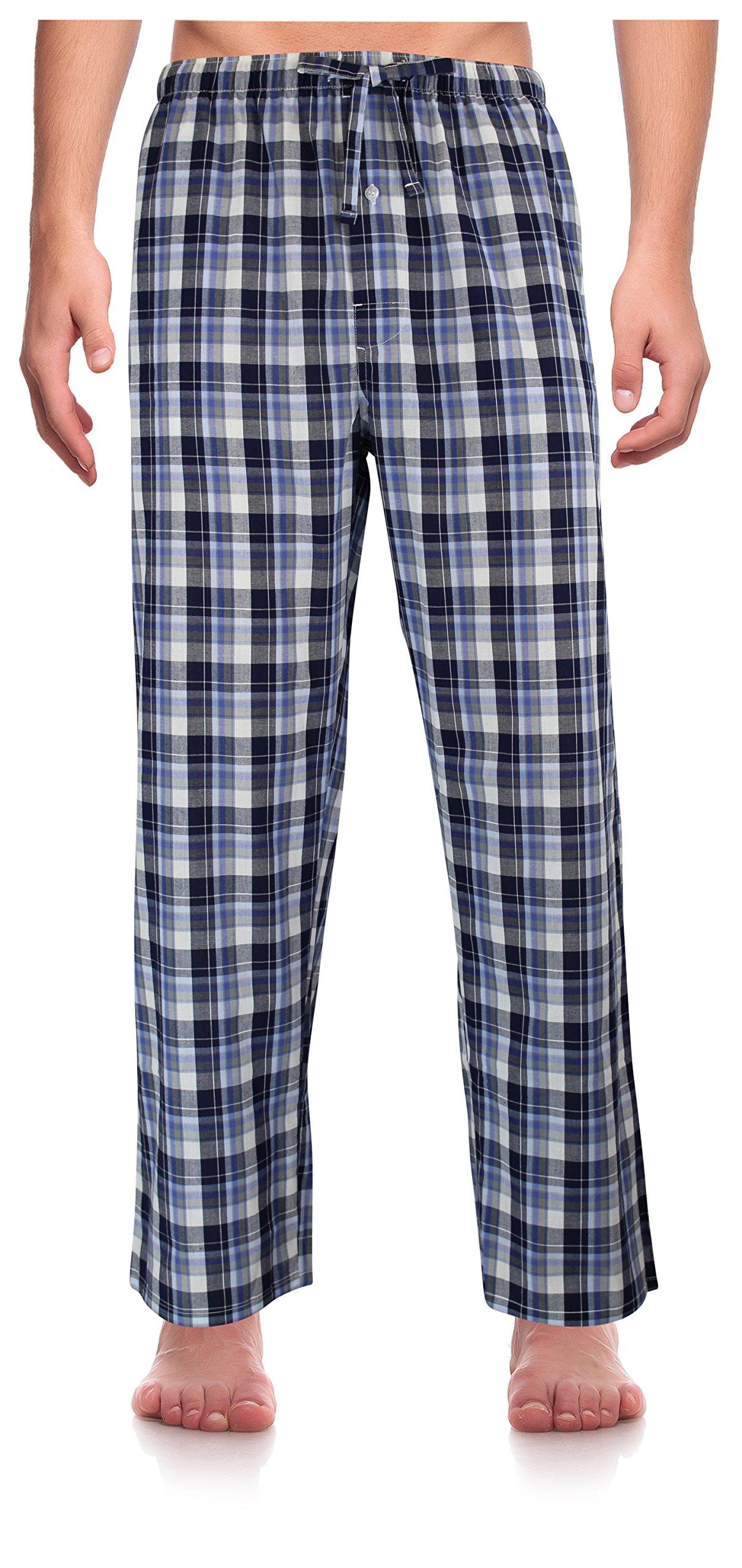 RK Classical Sleepwear Men's Woven Pajama Pants, Size XX-Large