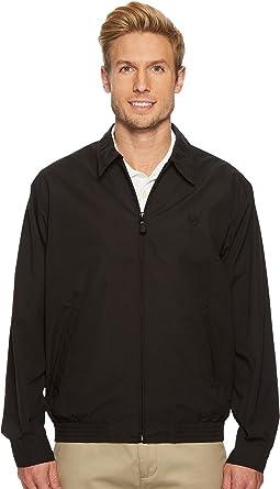 Chaps Men's Classic Fit Full-Zip Microfiber Jacket, American Black, ...