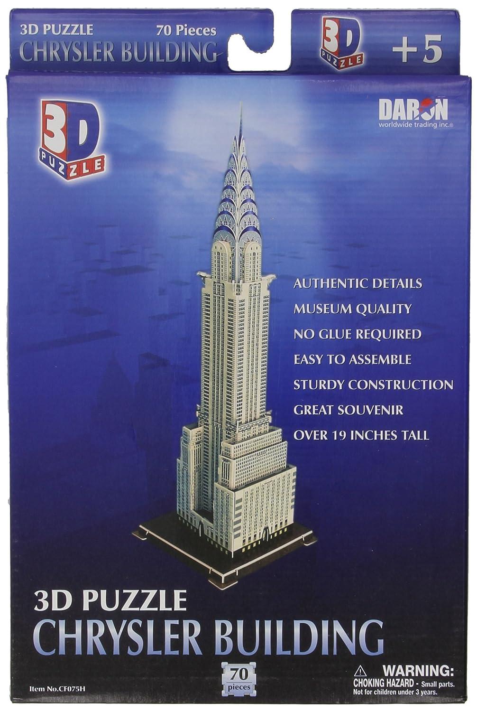 DARON Chrysler Building 3D Puzzle, 70-Pieces CF075H