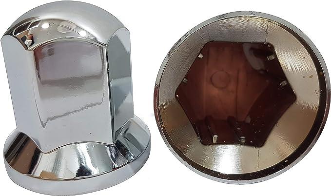 100 Stück X Radmutterkappen 33 Mm Aus Kunststoff Mit Chrom Oberfläche Dekoration Für Lkws Auto