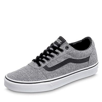 Vans Herren Ward Canvas Sneaker Grau ((Textile) Gray/White Qoq) EU