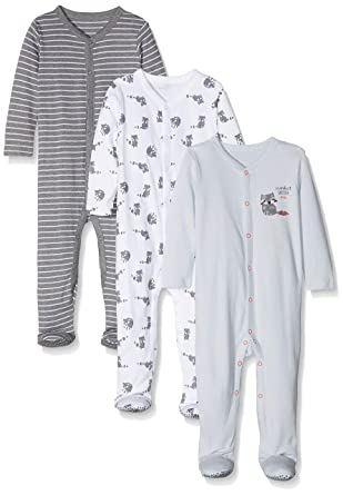 0c85c801ed8e Mothercare Baby Boys Racoon 3 Pack Sleepsuits  Amazon.co.uk  Clothing