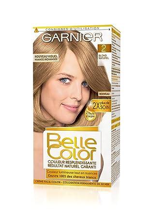 garnier belle color coloration permanente blond 02 blond naturel - Belle Color Blond Naturel