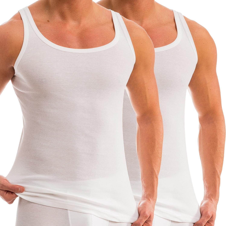 HERMKO 93000 - Camiseta de tirantes para hombre (2 unidades, algodón orgánico): Amazon.es: Ropa y accesorios