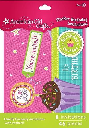 Amazon Com American Girl Crafts Sticker Birthday Invitations Arts
