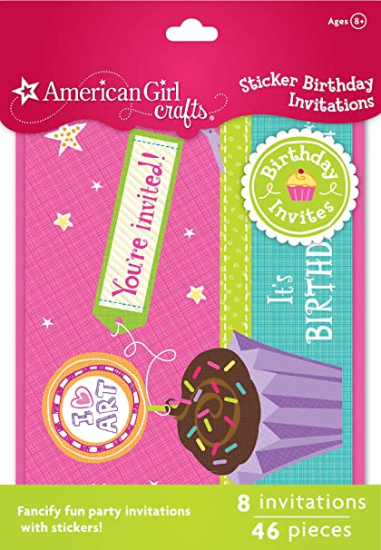 Amazoncom American Girl Crafts Sticker Birthday Invitations Arts