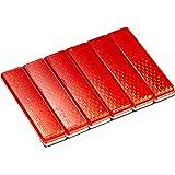 エーモン 反射レンズ 赤 (テープ厚0.75mm) 幅12mm×長さ50mm×厚さ5.4mm 6704