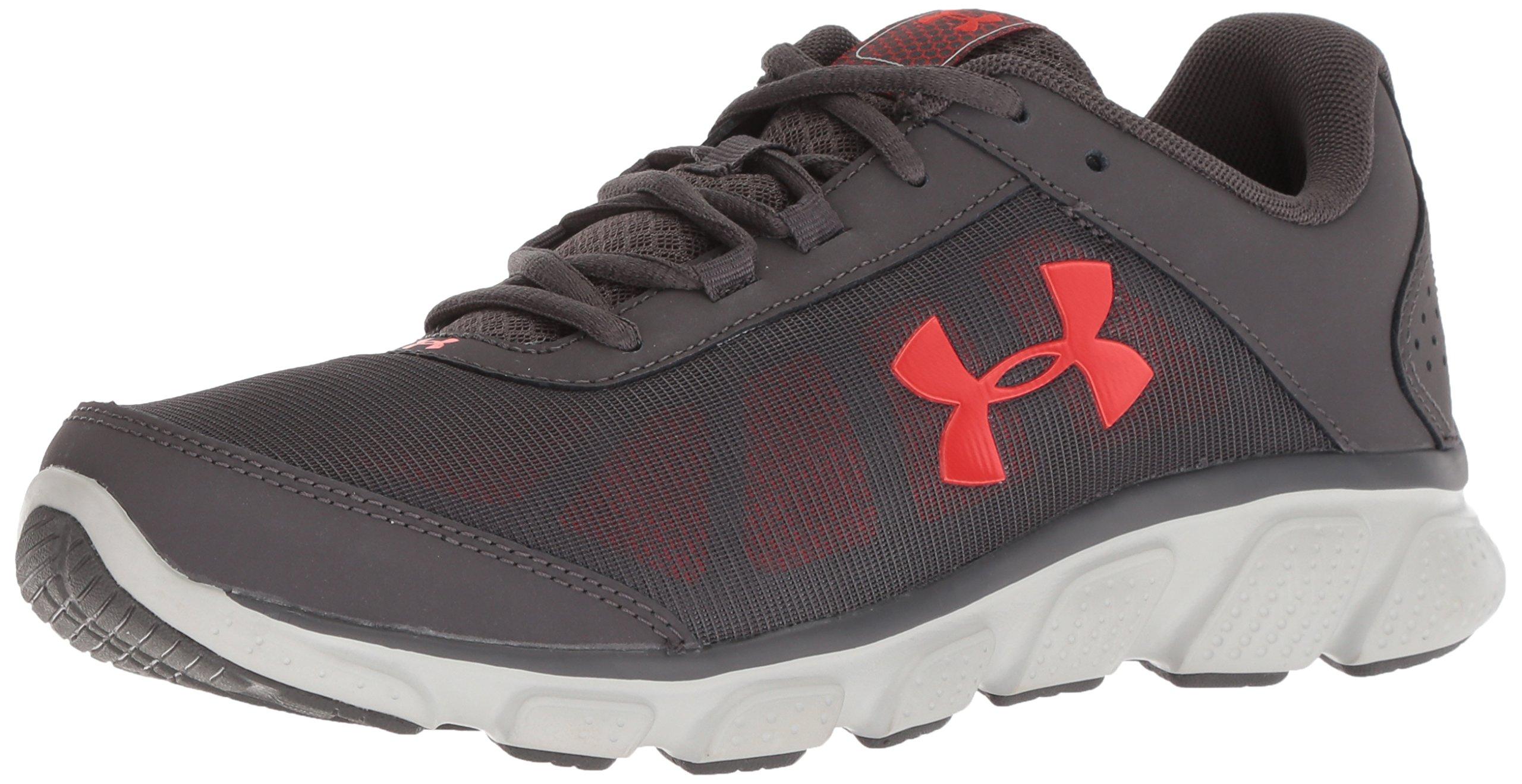 Under Armour Men's Micro G Assert 7 Running Shoe, Charcoal (102)/Radio Red, 14 M