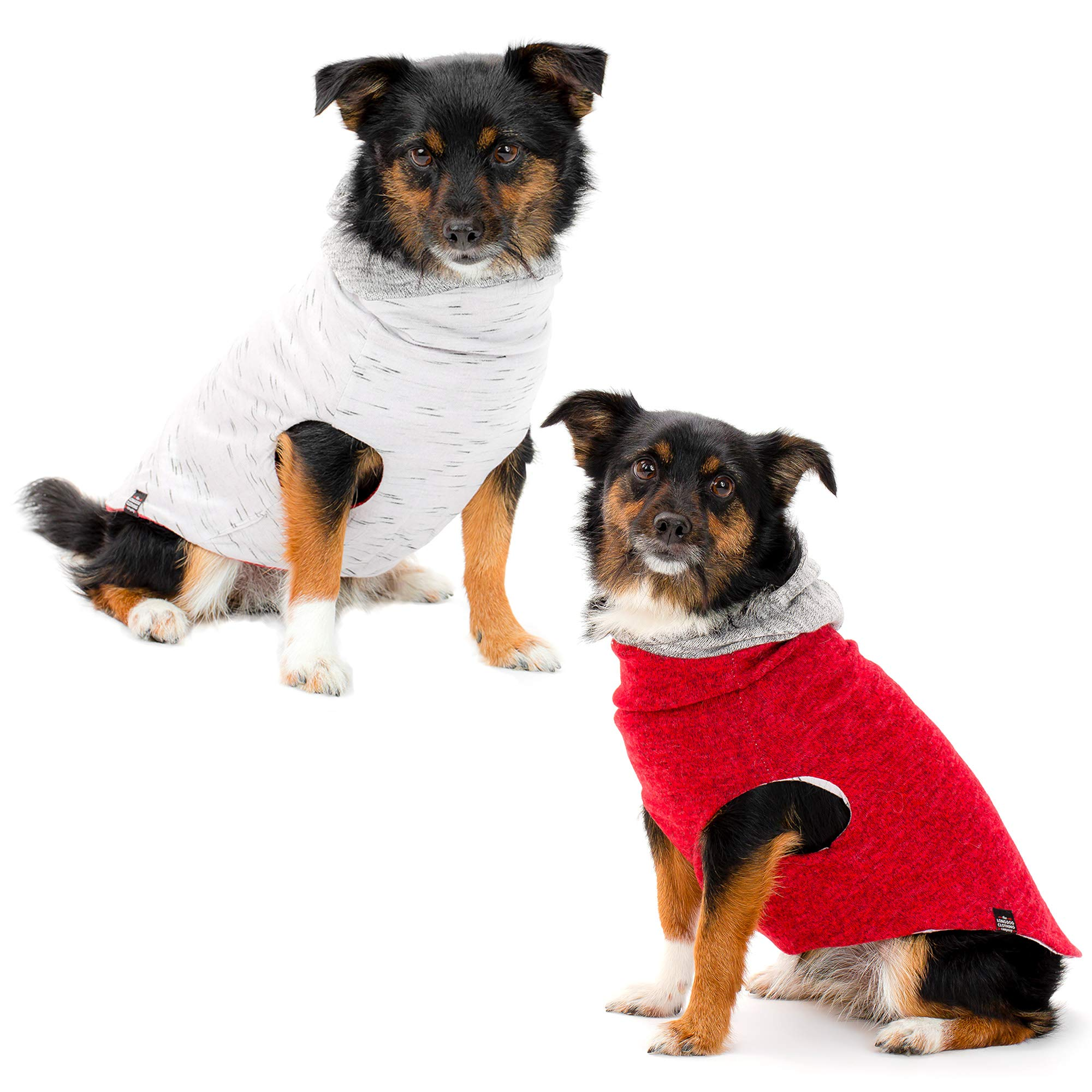 The Long Dog Clothing Co. Dog Clothes | Expertly Designed Reversible Dog Shirt with Dog Hoodie | Trendy Dog Clothes for Small, Medium, Large Dogs. Made With Premium Materials for a Stylish Dog Outfit.