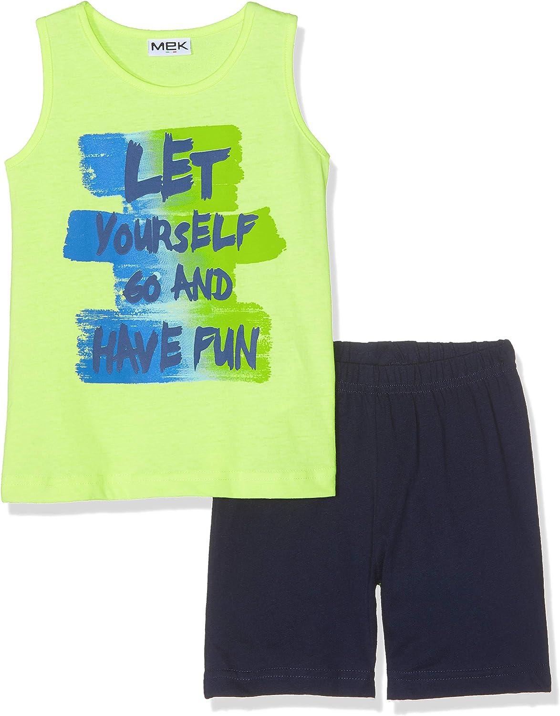 2er Pack MEK Baby-Jungen Set Jersey Canotta+Shorts Bekleidungsset